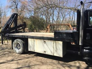 20' flat bed and crane available