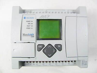 Allen Bradley Micrologix 1100 1763-l16bwa Ser B Frn 8.0 Good Condition