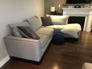Grey Sectional couch from Leon's