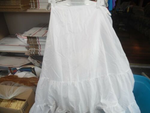 Merry Modes hoop skirt nylon & lace wedding dress slip one size