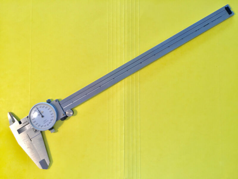 MITUTOYO, 12 Inch Dial Caliper, No. 505-628, Original Owner, Good Condition