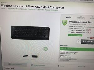 Wireless keyboard 850w/aes Microsoft