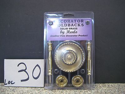 (Solid Brass Decorator Holdbacks, by Henlo, Ornate, TIEBACK HOLDERS,,,NEW,,,LOC22)