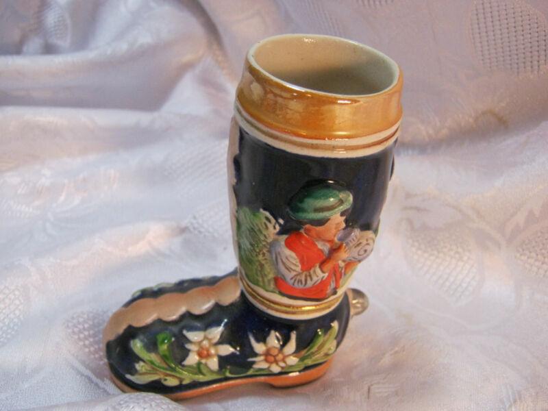 """4"""" Boot Beer Mug Stein  Vintage"""