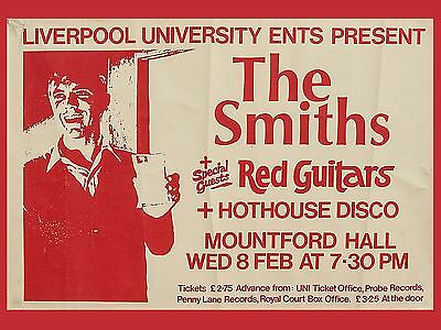 "The Smiths Liverpool uni 16"" x 12"" Photo Repro Concert Poster"
