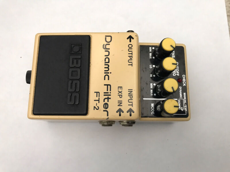 Vintage 1987 Boss FT-2 Dynamic Filter Pedal Made in Japan Black Label