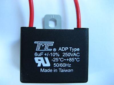 CAPACITOR 6MFD, 6 mfd, 6uF, 250VAC ADP type MOTOR, CEILING FAN AC, PUMP