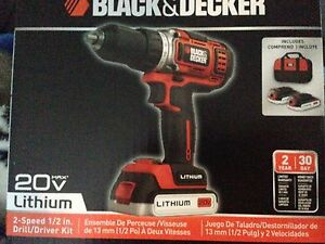 New Black and Decker 1/2 inch Drill