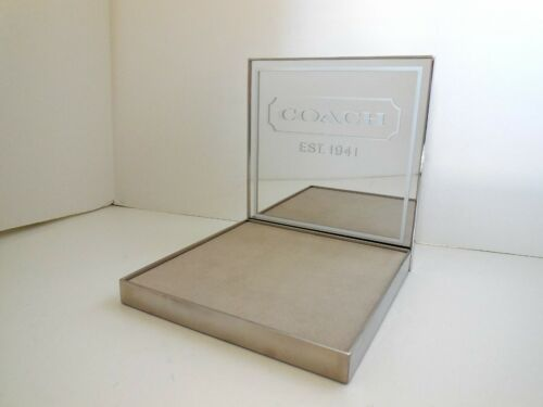 NIB Collectible Coach Store Sign Advertising Mirrored Display Stand