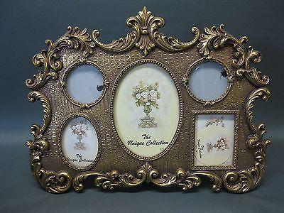 Goldener Bilderrahmen Standbilderrahmen Antikstil für 5 Bilder 40 cm x 32 cm