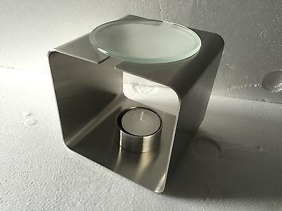 BLOMUS 65073 RELAJA Aromalicht Edelstahl mit Glas Teelicht Duftlampe - Neu !!