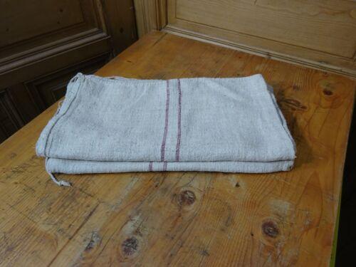 Antique European Feed Sack GRAIN SACK Red Stripe # 8184