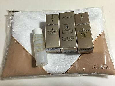 Guerlain Abeille Royale treatment oil,night cream,gel mask, lotion,pouch 5pc set