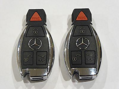 Two  2   Iyzdc07 Mercedes Benz Oem Key Fob 4 Button Keyless Entry Remote Genuine