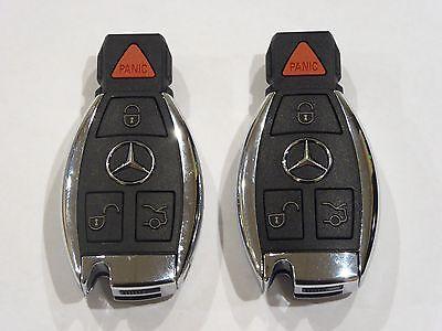 Two (2)  IYZDC07 MERCEDES BENZ OEM KEY FOB 4 BUTTON Keyless Entry Remote - Benz Remote