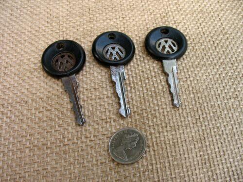 Set Of 3 Vintage Volkswagen Car Keys