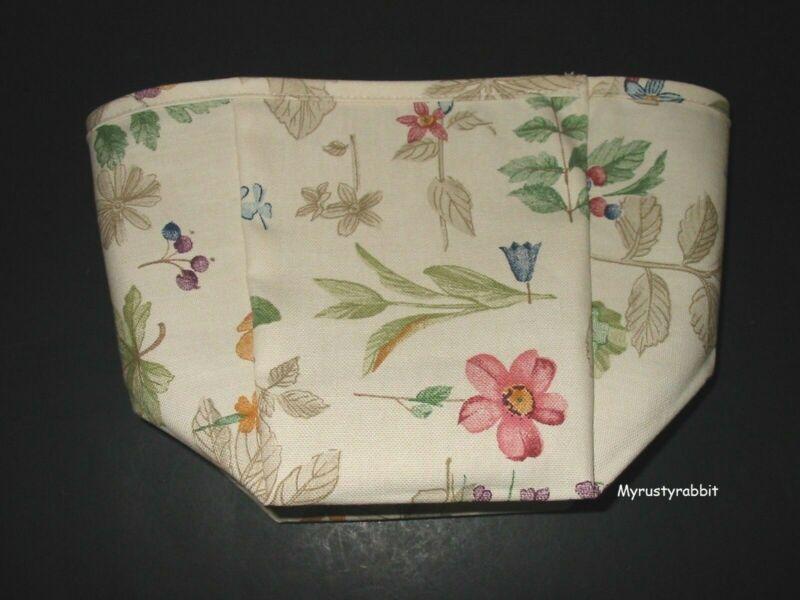 Longaberger Teaspoon Basket Fabric Liner ~ Botanical Fields - NEW