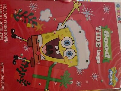 Nickelodeon SpongeBob Squarepants Christmas Holiday Chocolate Advent Calendar