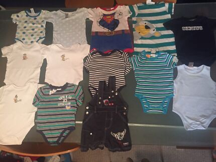 100 ITEMS baby boy Clothes Size 00 Burleigh Heads Gold Coast South Preview