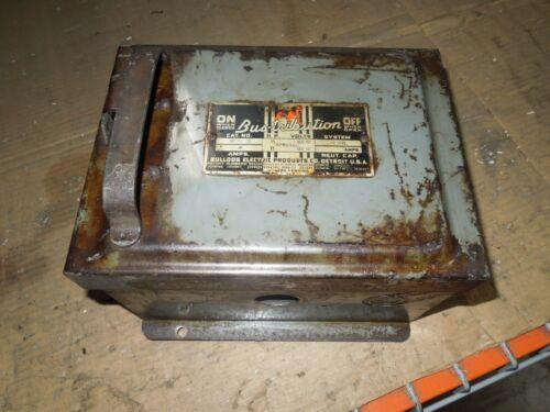Bulldog Bp352 60a 3ph 3w 600v Ac Fusible Cover Operated Bus Plug Used E-ok