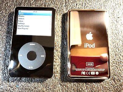 Apple iPod Classic 5th Gen Black 30GB MA446LL/A AAC WAV MP3 Video Player