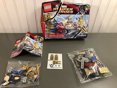 Lego Marvel Super Heroes Captain America's Avenging Cycle #6865 100% Complete