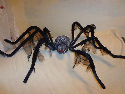 Gruselige, eklige RIESENSPINNE 80-110 cm! Halloween-Deko SPINNE schwarz (Riesen Spinne Halloween Deko)