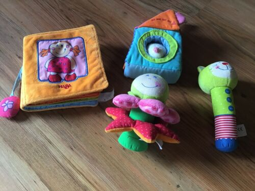 Haba und Jako-o Baby Spielzeug Greifling (Rassel, Geräusche Buch, ...) TOP !!!