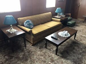Retro vintage living room set, pull-out couch