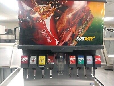 Cornelius 8 Flavor Soda Machine W Ice Dispenser Subway Used E0258-bcz