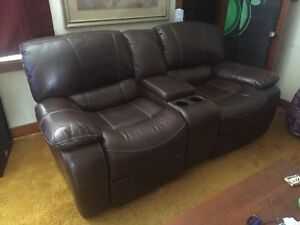 Like new electric leather double recliner