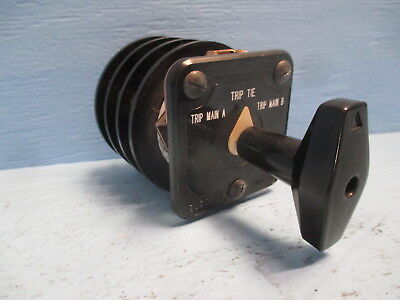 Electroswitch 24203b 20a 600v 3 Position Selector Rotary Switch Series 24