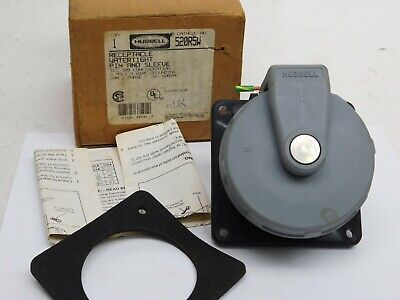 New Hubbell Flanged Inlet Watertight Pin And Sleeve 520r5w 20a Amp 4 Pole 5 Wire