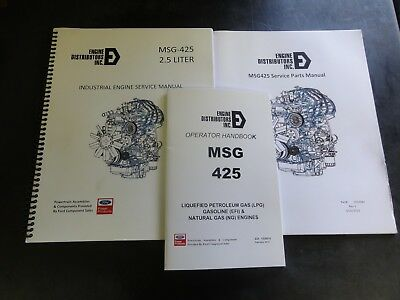 Ford Msg-425 2.5 Liter Industrial Engine Service Manual And Parts Manual