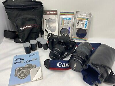 Canon Rebel G EOS 35MM Film Camera Extra Lense & Carrying Case