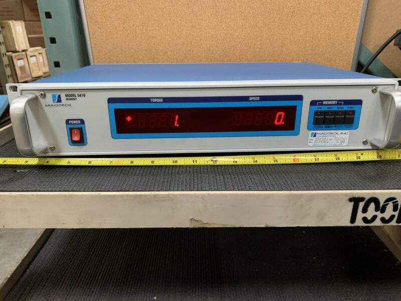 Magtrol, Inc. 5410 Torque and Speed Readout for Dynamometer Tested Powers On
