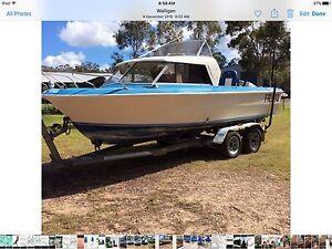 20 ft Half Cab Seafarer boat 140 Johnson  tandem Trailer Sunshine Acres Fraser Coast Preview