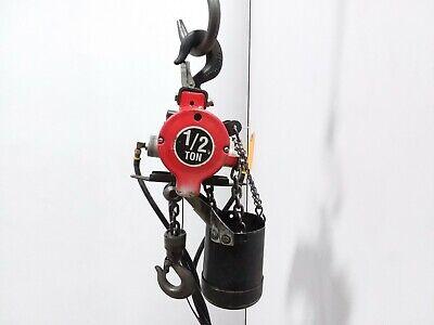 Ingersoll Rand 7756e-2a10-06 12 Ton 1000lb Air Pneumatic Chain Hoist 106 Lift
