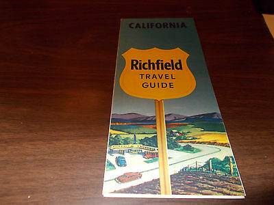 1954 Richfield California Vintage Road Map