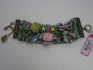 Betsey Johnson Vintage Critters Owl Wide Toggle Bracelet NWT $145 *Authentic*