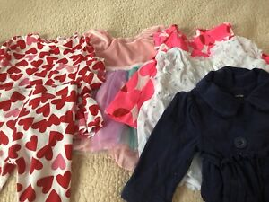 Baby girl clothing lot  0- 3 mos