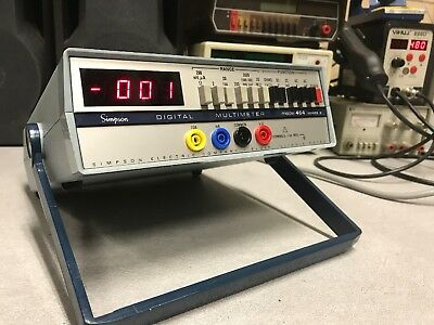 Simpson 464 Series 3 Digital Mulitmeter 3.5 Digit Used Testes Ships Free