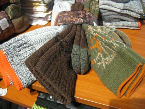 3 Pair Realtree Wool Blend Hunting Boot Socks Sz 9-13 Cushioned / Group Six