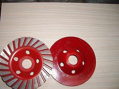 - 4 inch Coarse Grinding Diamond Turbo Cup Wheel Granite Stone Concrete Travertine