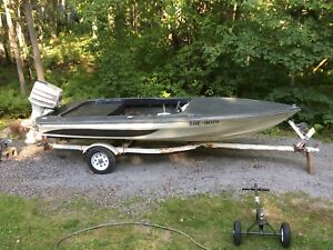 Speedboat 70 hp and trailer