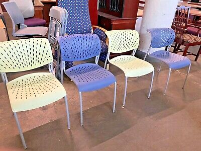 Lot Of 4 Modern Guest Side Chairs By Izzy Design Hannah Stack Chair