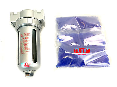 """3/8"""" Compressed Air In Line Filter Desiccant Dryer Moisture Water Separator"""