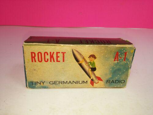 Mid Century Space Age Rocket Germanium Radio with Original Box Japan