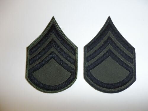 e4012p Vietnam US Army Rank Chevron Staff Sergeant sub post 1968 E-6 pair R1C