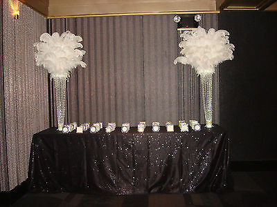 Great Gatsby Themed Ostrich Feather Centerpiece RENTALS in NY, NJ PA & CT